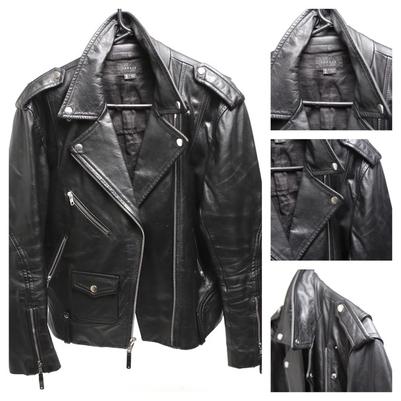 Theory Other - Theory Men's Black Leather Medium Biker Jacket